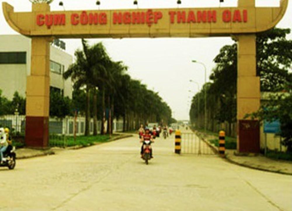 Đo đạc và cắm mốc xác định ranh giới Dự án làm nhà máy in Hà An tại Cụm công nghiệp Thanh Oai, xã Bích Hòa, huyện Thanh Oai, TP Hà Nội