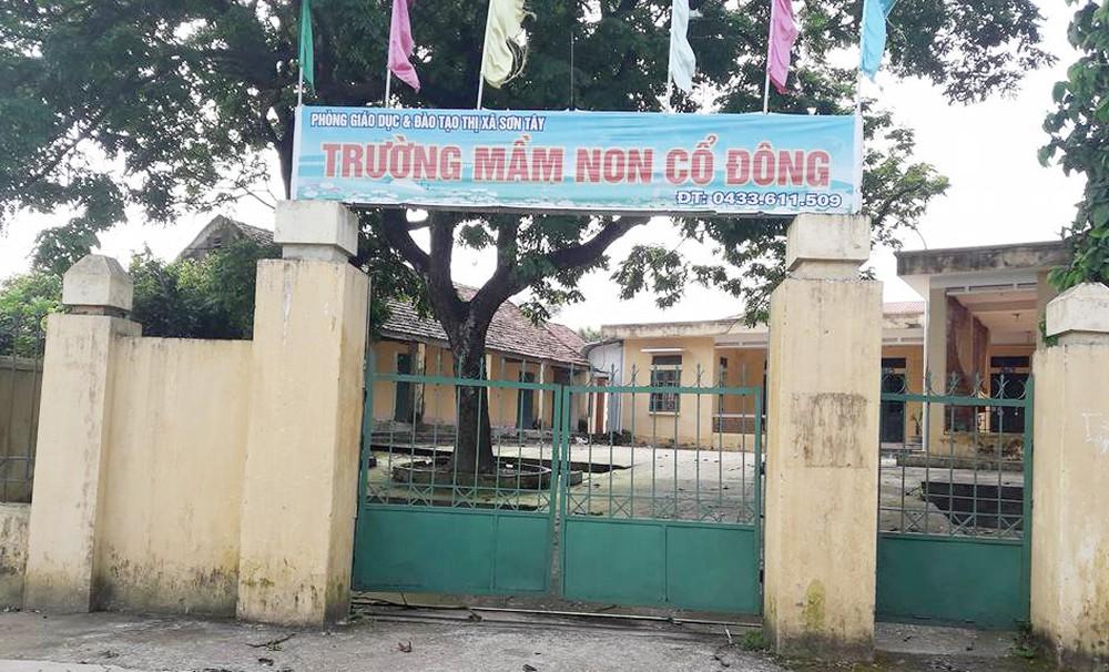 Cắm mốc ngoài thực địa phục vụ công tác giải phóng mặt bằng Dự án đầu tư xây dựng công trình Trường Mầm non trung tâm xã Cổ Đông tại xã Cổ Đông, thị xã Sơn Tây, TP Hà Nội