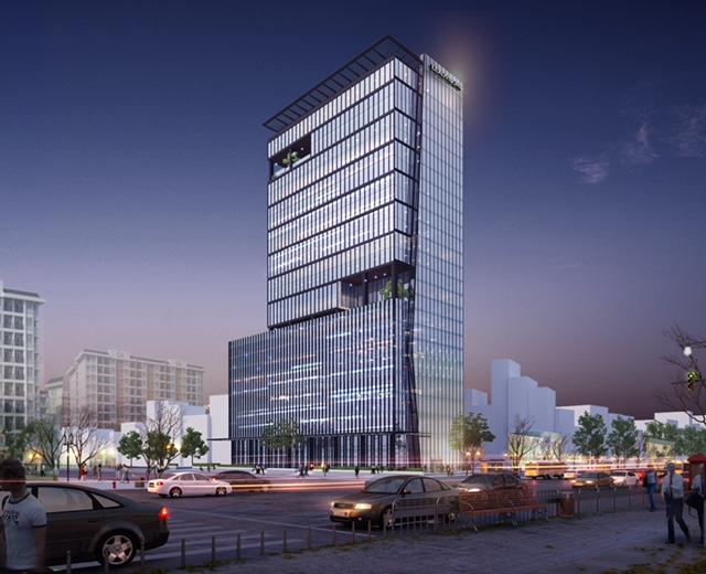 Đo đạc cắm mốc giới phục vụ công tác lập hồ sơ cấp GCN tòa nhà Leadvision Tower tại đường Phạm Văn Đồng