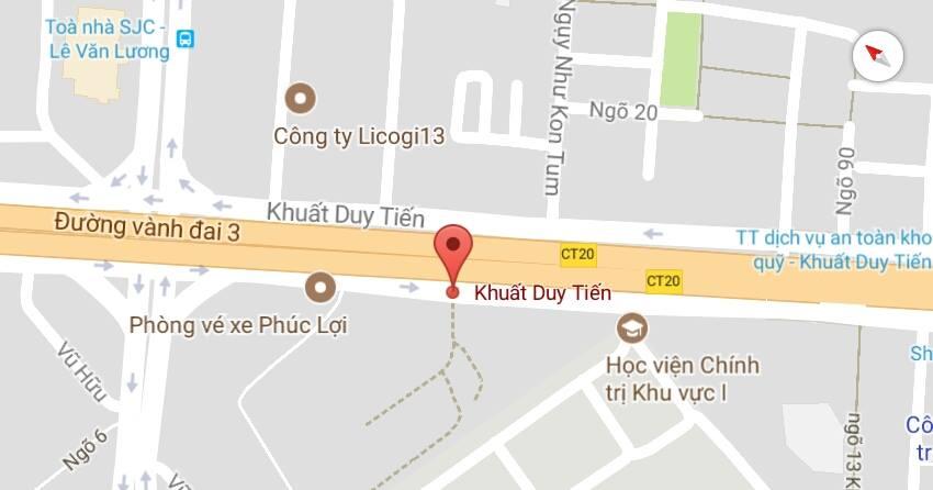 Khảo sát đo vẽ lập bản đồ chi tiết hiện trạng 1/500 số 15 đường Khuất Duy Tiến, quận Thanh Xuân, Hà Nội