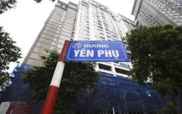 Đo đạc và cắm mốc tại số 2 Yên Phụ phường Yên Phụ quận Tây Hồ HN